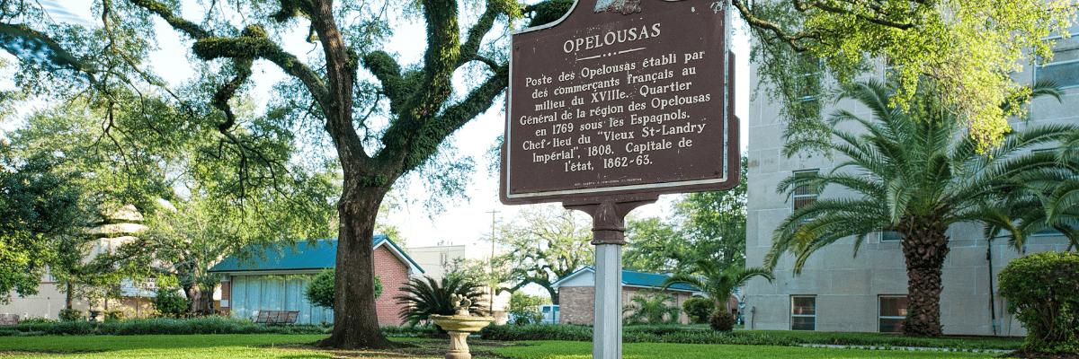 Courthouse Square in Opelousas, Louisiana