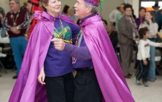 Mardi Gras dance at the Northwest Community Center in Eunice, Louisiana