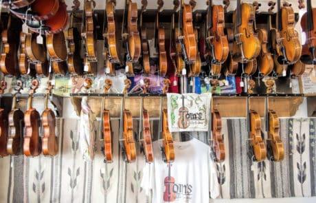 Tom's Fiddle an Bow in Arnaudville, Louisiana