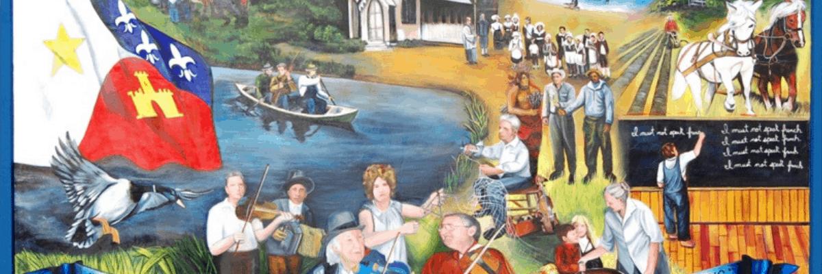 Acadian to Cajun Mural in Opelousas, Louisiana