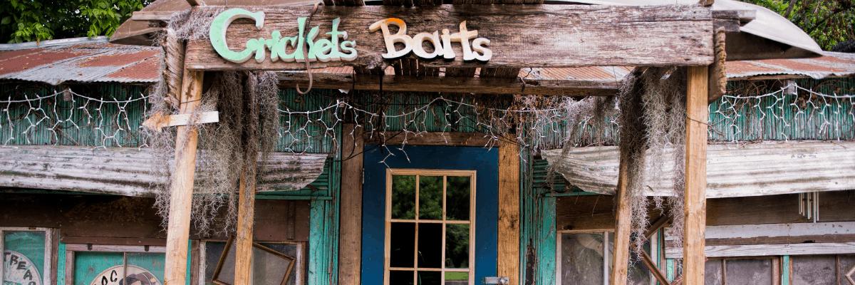 Cricket's Bait Shop in Krotz Springs, Louisiana