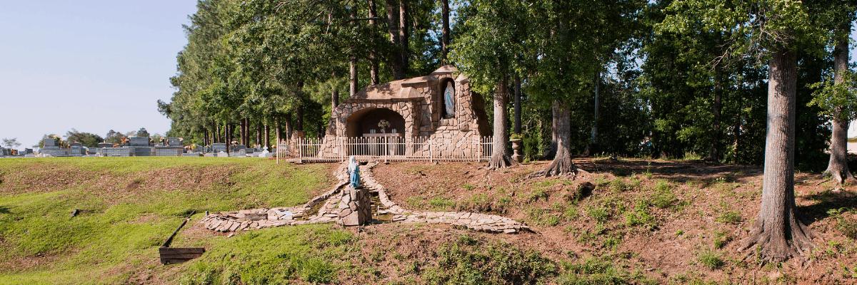The grotto in Leonville, Louisiana