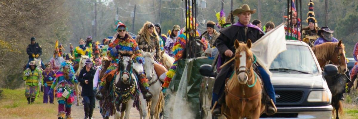 Courir de Mardi Gras, Eunice, Louisiana