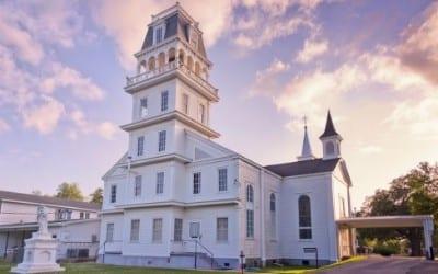 St. Charles Borromeo Church & Cemetery in Grand Coteau, Louisiana