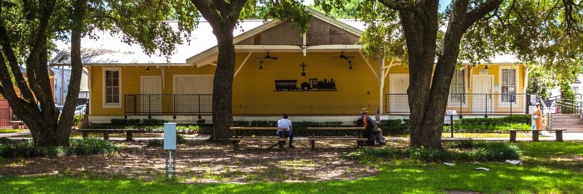 Orphan Train park bench, Opelousas, LA