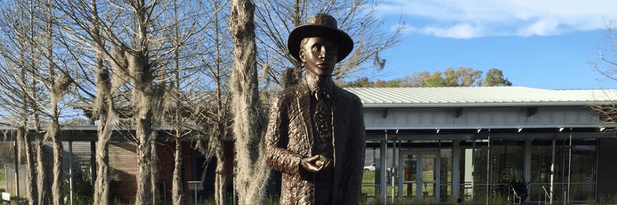 Amédé Ardoin Statue, Opelousas, Louisiana