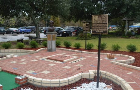 JS Clark Memorial Walkway at Le Vieux Village in Opelousas, Louisiana