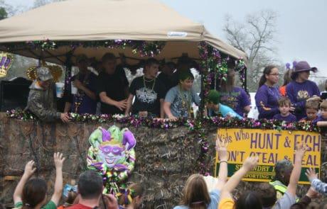 Krewe of Frank Parade and Chicken Run Mardi Gras in Opelousas, Louisiana