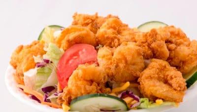 Mama's Fried Chicken, Fried Shrimp Salad, Opelousas, Louisiana