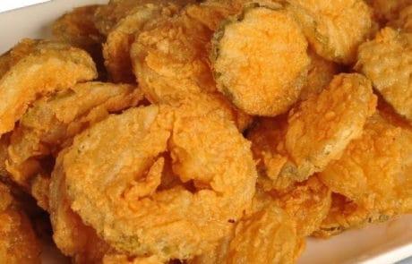Mama's Fried Chicken, Fried Pickles, Opelousas, Louisiana
